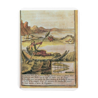 137-627922 Illustration from a history of Chile sh Rectangular Photo Magnet