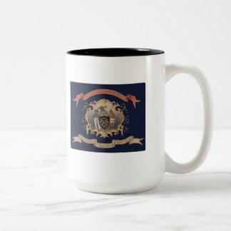 139th NY Volunteer Infantry Regimental Flag (City) Two-Tone Coffee Mug