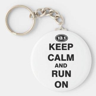 13.1 Half Marathon Basic Round Button Keychain