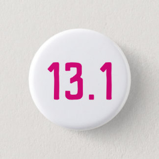 13.1 Half Marathon button badge