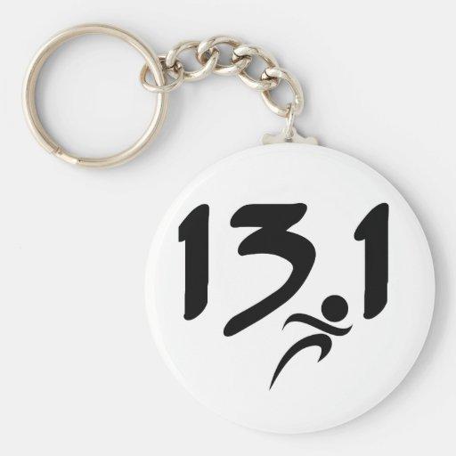 13.1 half-marathon key chains