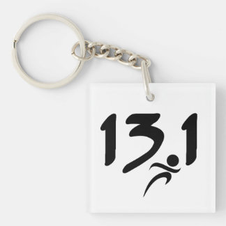 13.1 half-marathon acrylic key chains
