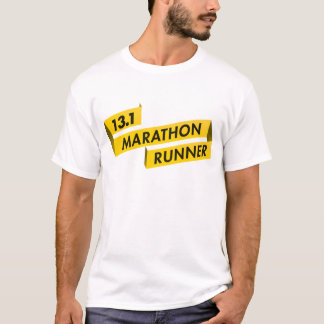 13.1 Half Marathon Runner Ribbon Yellow T-Shirt