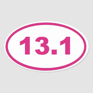 13.1 pink magenta oval sticker