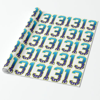 13 Age Star Wrapping Paper