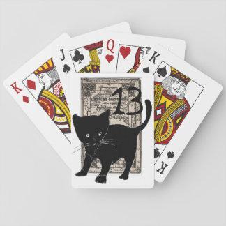 13 and card deck black cat