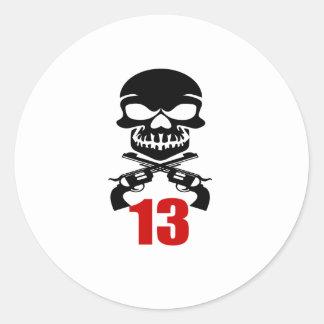 13 Birthday Designs Classic Round Sticker
