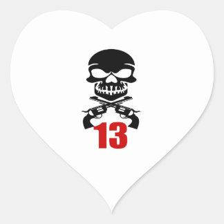 13 Birthday Designs Heart Sticker