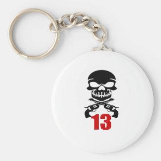 13 Birthday Designs Keychain