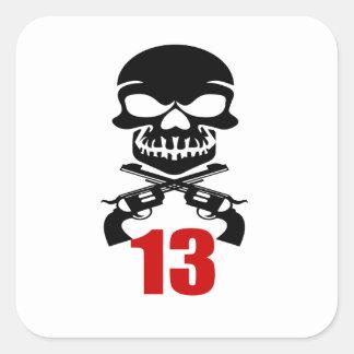 13 Birthday Designs Square Sticker