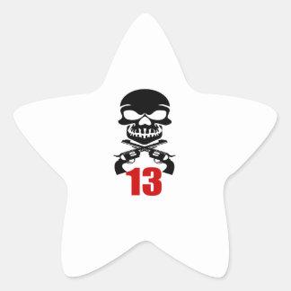 13 Birthday Designs Star Sticker