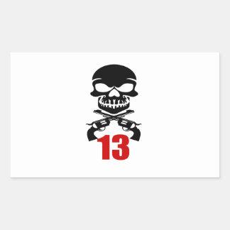13 Birthday Designs Sticker