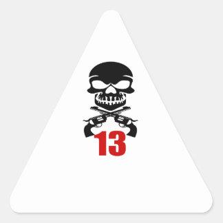 13 Birthday Designs Triangle Sticker