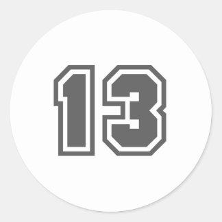 13 CLASSIC ROUND STICKER