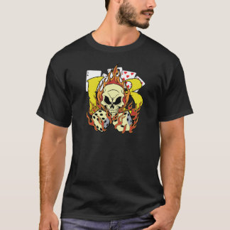 13 Flames With Dice and Skull T-Shirt