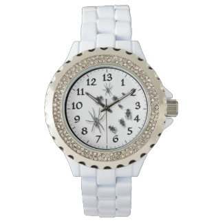 13 Hour Dial Women's Rhinestone White Enamel Watch