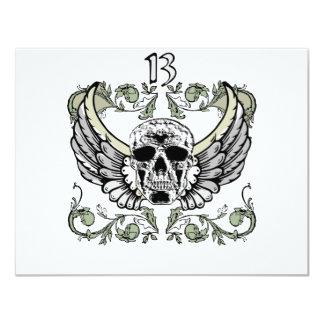 13 Hour Skull Clock Pattern Card