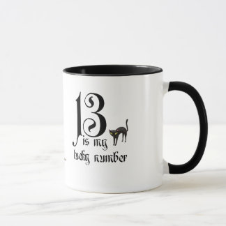 13 is my Lucky Number/Black Cat Mug
