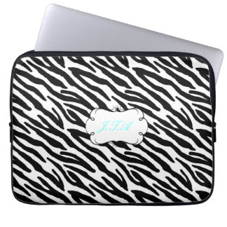 "13"" laptop case monogrammed initials black grey"