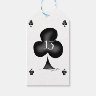13 of clubs gift tags