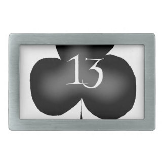 13 of clubs rectangular belt buckle
