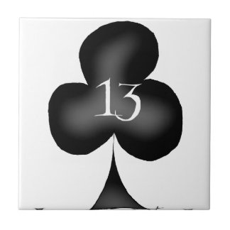 13 of clubs tile