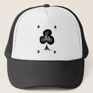 13 of clubs trucker hat