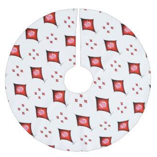 13 of diamonds brushed polyester tree skirt