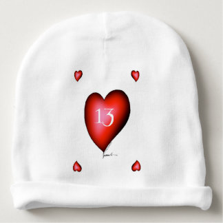 13 of Hearts Baby Beanie
