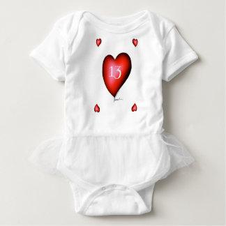 13 of Hearts Baby Bodysuit