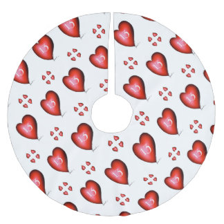 13 of Hearts Brushed Polyester Tree Skirt