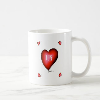 13 of Hearts Coffee Mug