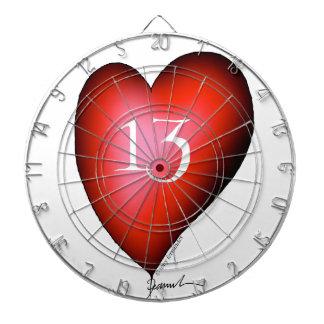 13 of Hearts Dartboard