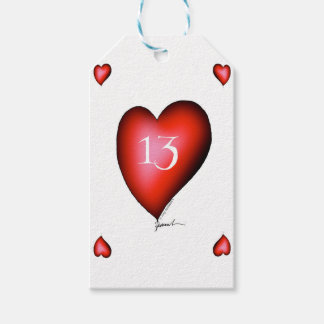 13 of Hearts Gift Tags