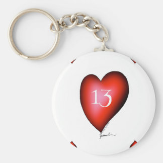 13 of Hearts Keychain