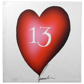 13 of Hearts Napkin