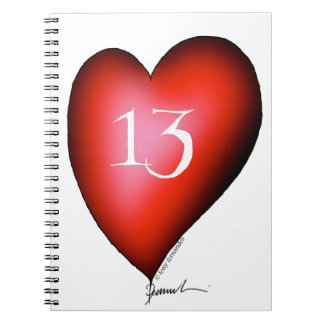 13 of Hearts Notebook