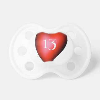 13 of Hearts Pacifier