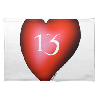 13 of Hearts Placemat
