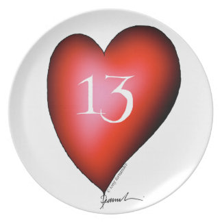 13 of Hearts Plate