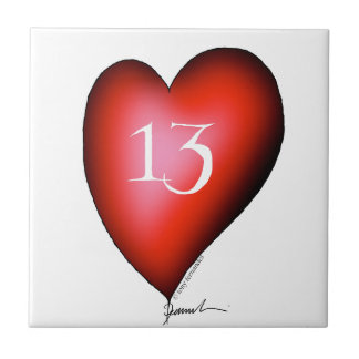 13 of Hearts Tile