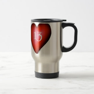 13 of Hearts Travel Mug