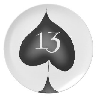 13 of spades plate