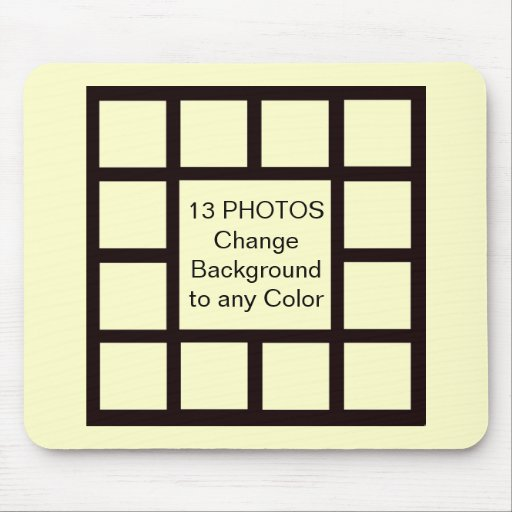 13 Photo Inserts DO IT YOURSELF ~ Mousepad