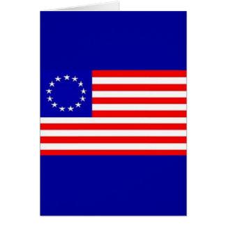 13 STAR AMERICAN FLAG GREETING CARD