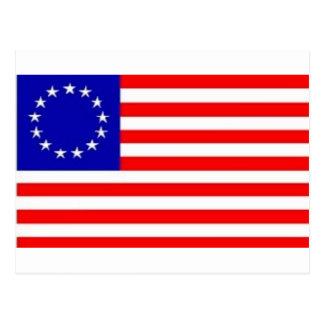 13 STAR AMERICAN FLAG POST CARD