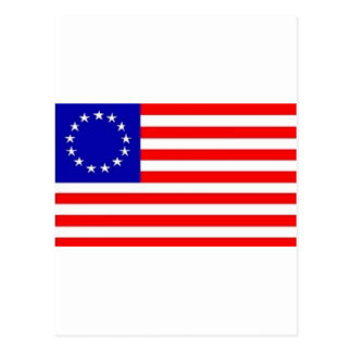 13 STAR AMERICAN FLAG POSTCARD