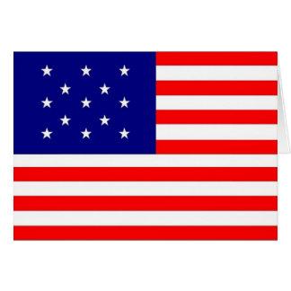 13 Star Flag - Card