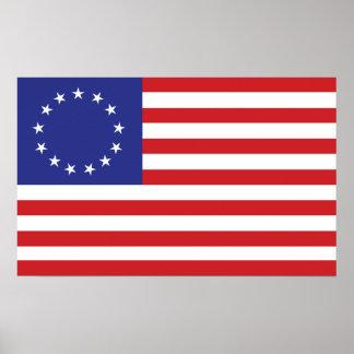 13-Star U.S. Flag Poster