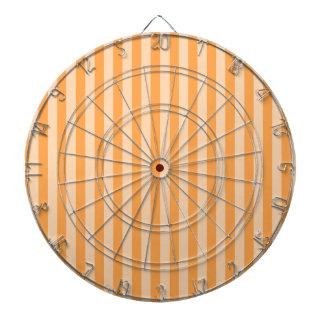 13 - Thin Stripes - Orange and Light Orange Dartboard